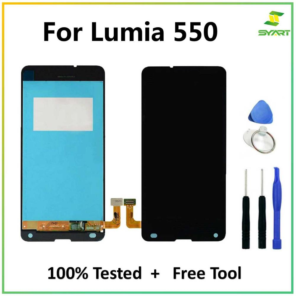 Para Nokia Lumia 550 LCD Screen Display Toque Digitador Assembléia Replacements Peças Para Lumia 550 RM-1127 4.7