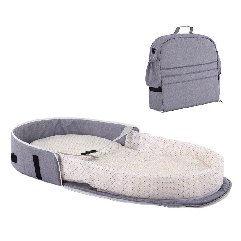 Baby Foldable Baby Bed Travel Indoor Bed Backpack Portable Bassinet For Bed Breathable Infant Sleeping Basket