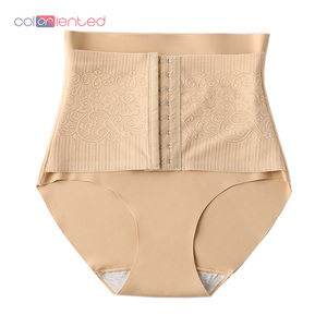 Coloriented Sexy Tummy Control Panties with Corset High Waist Trainer Body Shaper Women Abdomen Body Shaping Slimming Underwear