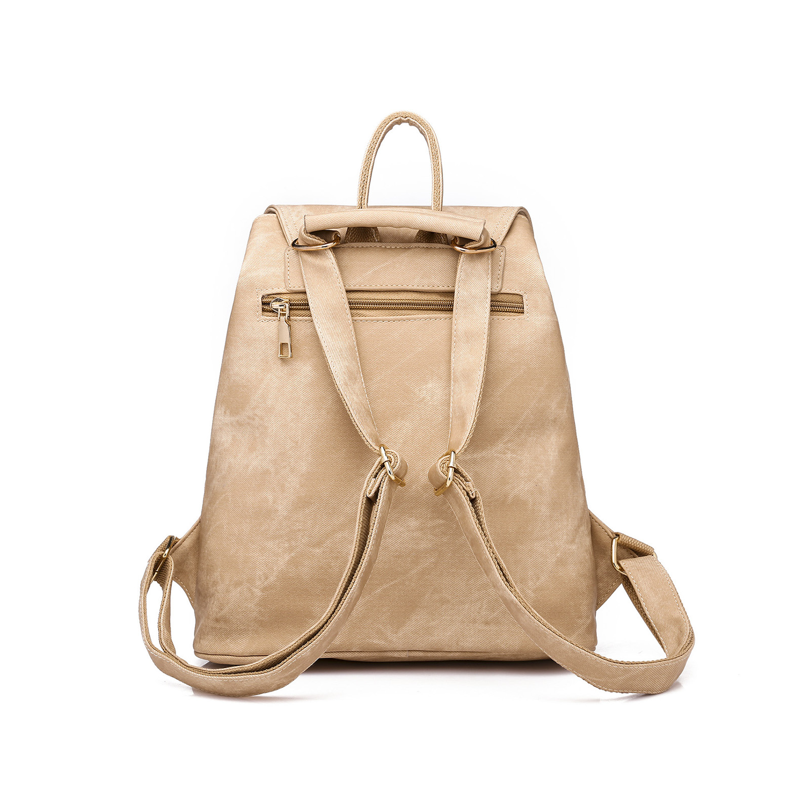 2019 2pcs Set Causal Women Backpack PU Leather School Bag for Teenager Girls Softback Female Backpacks Multi pocket Shoulder Bag in Backpacks from Luggage Bags