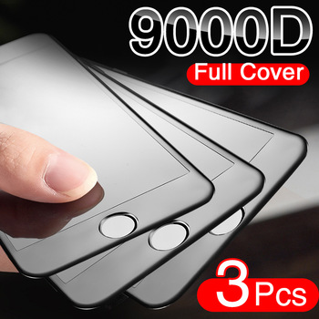 3PCS Curved Full Cover Protective Glass On The For iPhone 7 8 6S Plus Tempered Screen Protector iPhone 8 7 6 SE 2020 Glass Film 1
