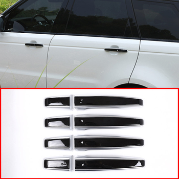 For LR5 Land Rover Discovery Range Rover Evoque Car Replacement Parts LHD Car Door Handle Trims 8pcs