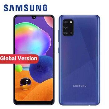 Перейти на Алиэкспресс и купить Глобальная версия Samsung Galaxy A31 A315F/DS мобильный телефон 5000 мАч 128 ГБ 4 ГБ 6,4 дюйма Quad Camera 48MP Dual SIM Android 4G смартфон