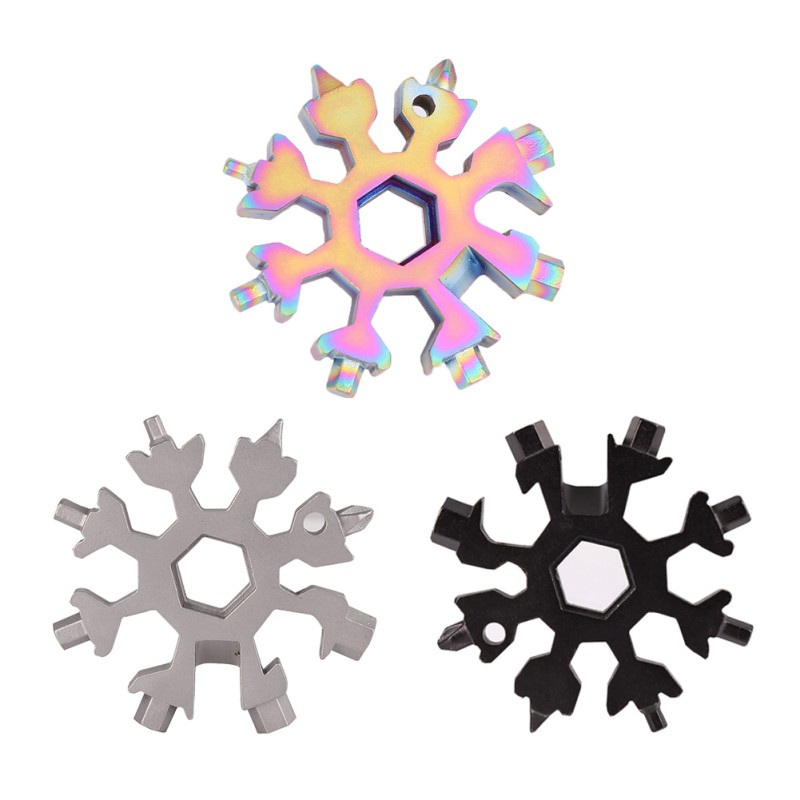 18In1 EDC Snowflake Multi-tool Card Combination Compact And Portable Outdoor Useful Accessories Security Protection Self Defense