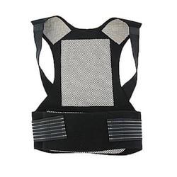 Self-heating Adjustable Vest Brace Tourmaline Magnetic Back Warm Protection Back Lumbar Healthcare Posture Correction Black New