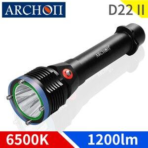 ARCHON D22 II Дайвинг светильник 6500K подводный водонепроницаемый 100 м Дайвинг фонарик светильник CREE светодиодный 1200 люмен подводный дайвинг свет...