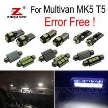 32x LED Footwell lamp + License plate + Interior reading dome map Light bulb full Kit for Volkswagen for Multivan MK5 T5 (03-15)(China)