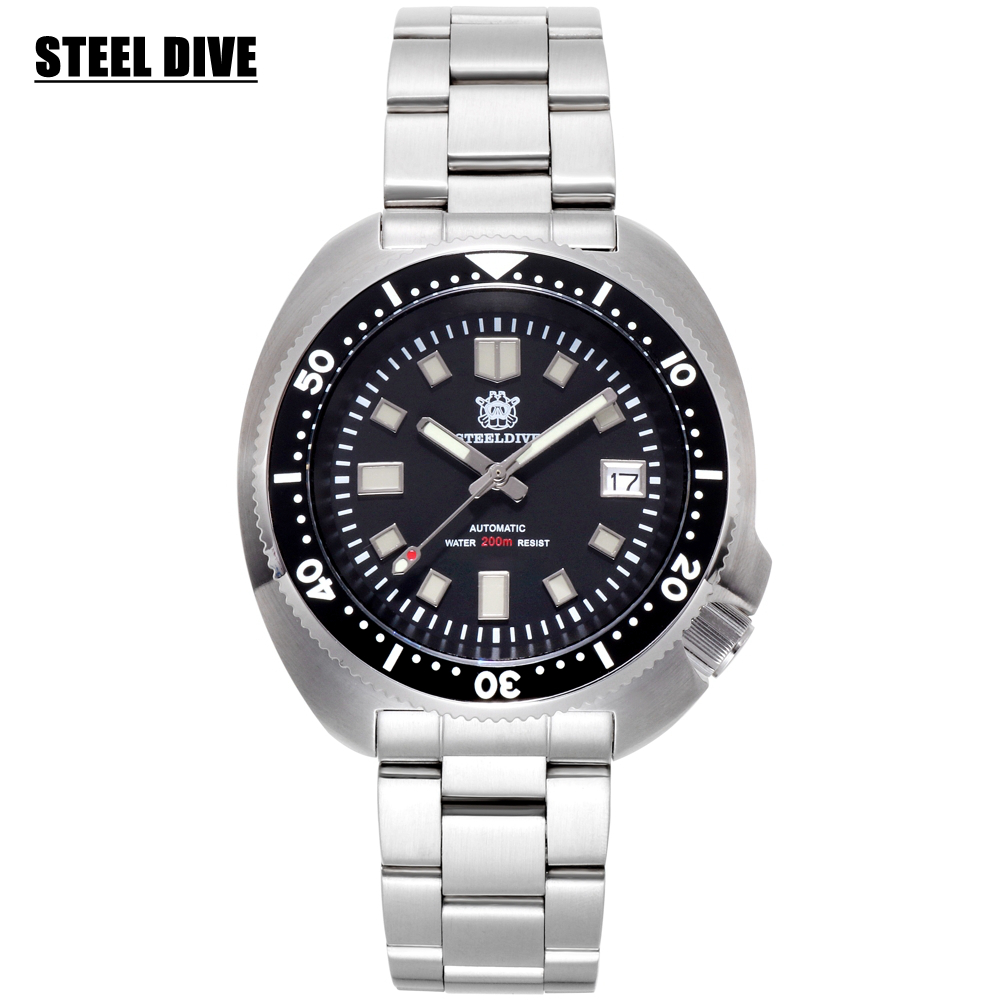 200M Diving Watch Men Sport  Automatic Mechanical Watch Mens Stainless Steel Swim Diver Watches Sapphire Crystal Luminous Watch