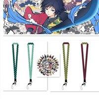 Anime teléfono móvil llaveros de cordón demonio asesino Kimetsu No Yaiba HOJA DE fantasma clave Vintage anillos para chica joyería para disfraz Gi