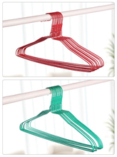 Colorful Multifunctional Plastic Hanger Non Slip Clothes Storage Organizer Non-Slip Hanger Hook Random Color Drop Shipping cheap Hanging support 37*20 5*1 as the picture show