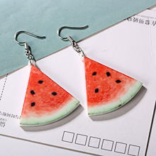 الاكريليك البطيخ أقراط لطيف الفاكهة انخفاض الأقراط الفراولة الخيار التنين الأناناس الطماطم الكيوي البرتقال التفاح أقراط