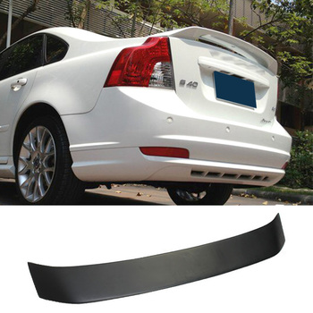Car Trunk Spoiler Carbon Fiber FPR Auto Rear Trunk Wing Refit Accessories Spoiler For Volvo S40 2004-2012