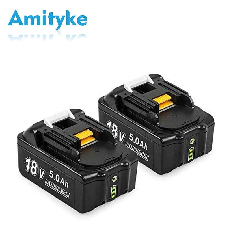 Сменный аккумулятор для Makita BL1830 BL1850 BL1840 BL1850B-2 BL1845 BL1860B, 2 упаковки, 18 в, 5,0 Ач
