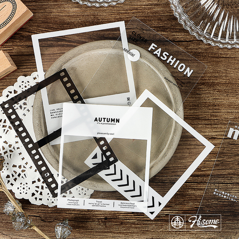 time-gear-ice-candy-tea-journal-transparent-pet-stickers-scrapbooking-sticky-label-diary-stationery-album-decoration