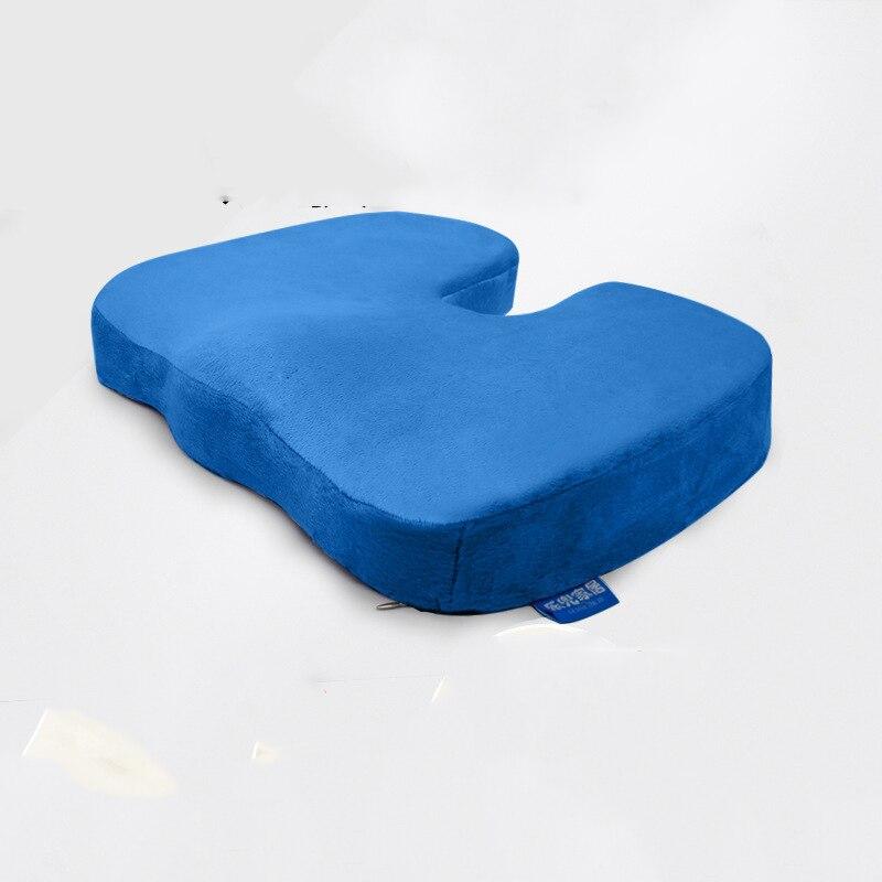 1PC U-Shapde Coccyx Short Plush Fabric Slow Rebound Memory Foam Beautiful Buttocks Cushion Stay Away From Acne Cushion Portable