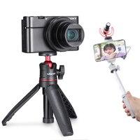 Ulanzi-trípode de Vlog para teléfono DSLR SLR MT-08, soporte de montaje para teléfono con zapata fría para micrófono, luz LED, Mini trípode para Sony A6400 A6300