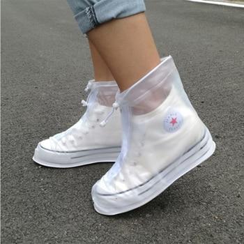 1 Pair Of PVC Waterproof Shoe Covers Reusable Overshoe Thickening Unisex Non-slip Rain Boots Set Fishing