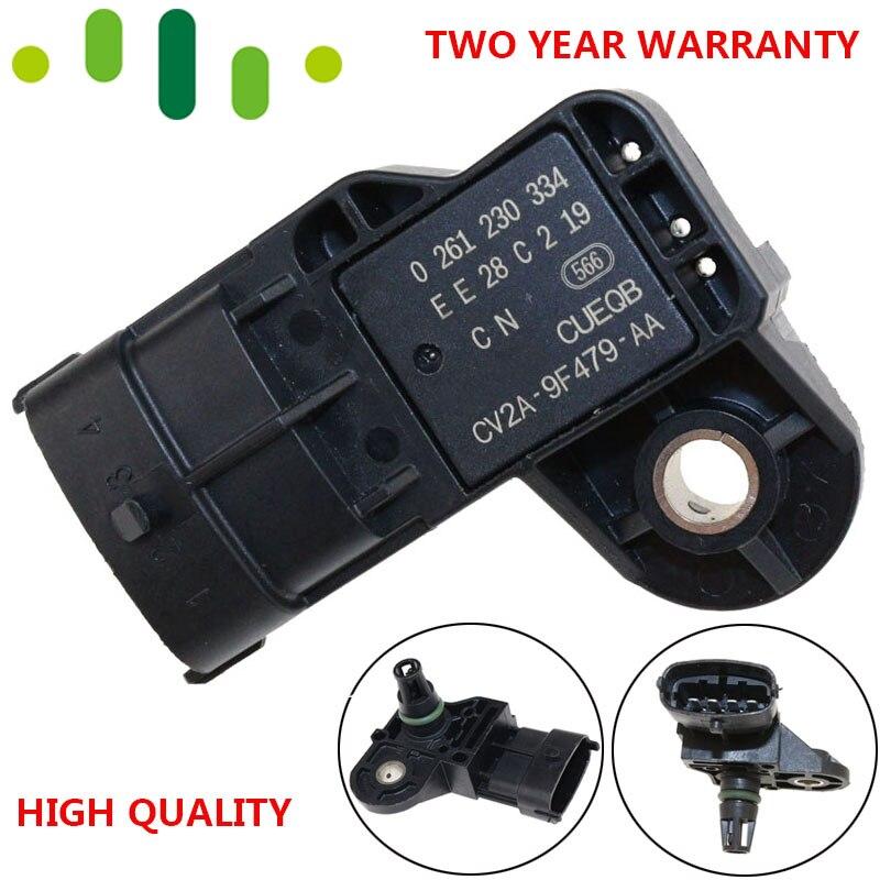 Marka nowy kolektor czujnik ciśnienia bezwzględnego mapa czujnik do forda Fiesta MK6 skupić się MK3 Escape 1.6 0261230334 CV2A9F479AA 1751185