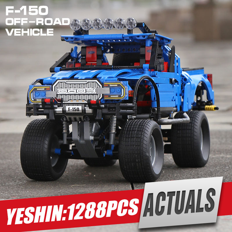 Yeshin 701970 Compatible with New Technic series the F 150 Raptor Pickup Car Model building blocks