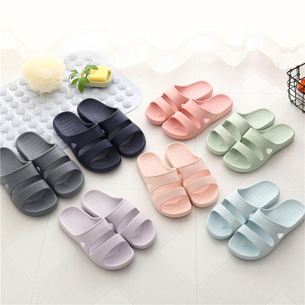 Men's Shower Pool Slippers Soft Ultra Comfortable Lightweight Bath Slippers Shoes Men  Zapatos De Hombre обувь мужская 2020