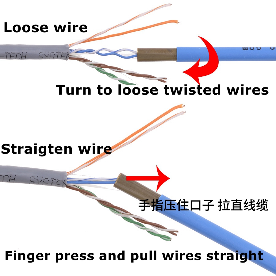 1PCS/4PCS/5/8/10PCS ReadStar Networking engineer tools Networking wire looser Ethermet cable looser twisted wire core separater 3