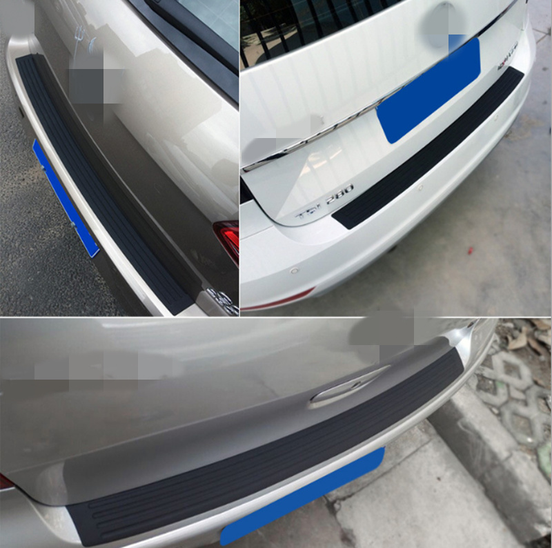 Image 4 - Car Trunk Rubber Bumper Guard Protector Car Accessaries for Volkswagen VW Golf 4 6 7 GTI Tiguan Passat B5 B6 B7 CC-in Car Stickers from Automobiles & Motorcycles