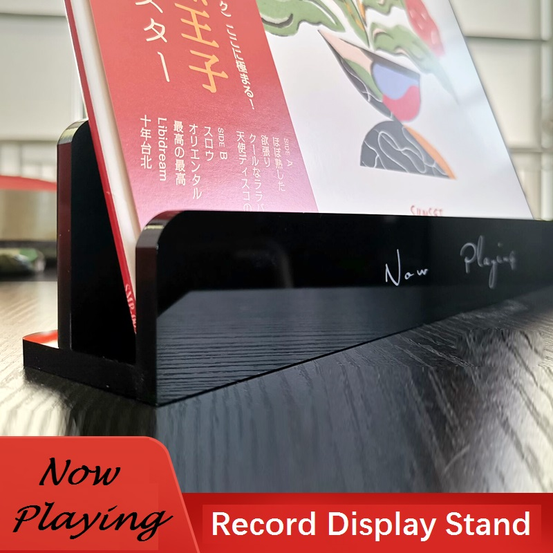 Now Playing Acrylic Display Stand For LP Vinyl Record / Deluxe Packaging