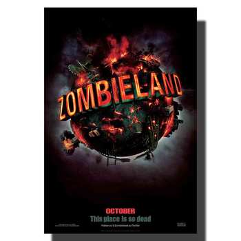 L664 Zombieland Movie Jesse Eisenberg Emma Stone Fabric Poster art painting 14x21 24x36 print Decoration Room wall Picture
