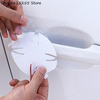цена на Car Door Handle Bowl Sticker Special Modification Door Handle Bowl Film For Toyota RAV4 RAV-4 2020 2019 Car Decoration