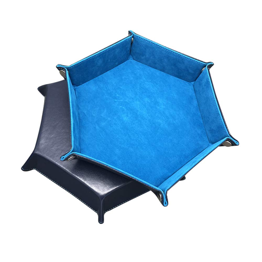 Плавающий складной шестигранный игра в кости лоток для хранения держатель Двусторонняя толстом каблуке из искусственной кожи с плюшевой п...