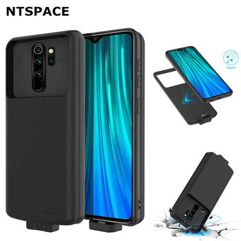 NTSPACE 7000mAh Backup Power Bank Case For Xiaomi Redmi Note 8 Pro Battery Charger Cover For Redmi Note 8 Power Charging Case 6500mah ultra thin fast charger battery case for samsung note 8 external power bank case for samsung galaxy note 8 charging case