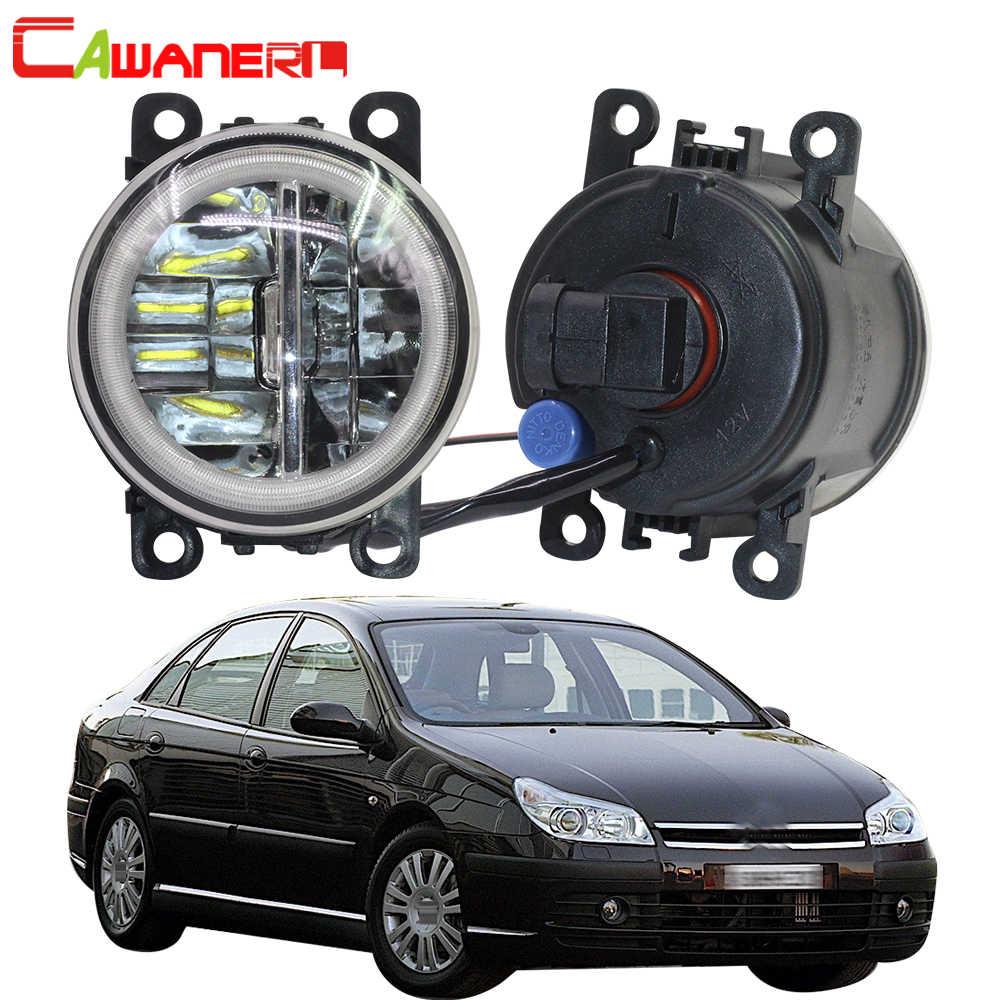 Cawanerl 2 adet araba aksesuarları 4000LM LED ampul sis lambası + melek göz gündüz çalışan işık DRL 12V citroen C5 2004-2015