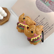 For AirPod 2 Case 3D Hamburger Elephant Cartoon Soft Silicone Wireless Earphone Cases Apple Airpods Cute Cover Funda