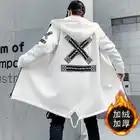 Мужская зимняя куртка, Длинная с капюшоном, тонкая, модная, повседневная, толстая, теплая, куртка, Мужская, размера плюс, 5XL, мужская одежда - 4