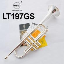 Музыкальный Fancier, клубный Профессиональный C тон труба LT197GS посеребренный музыкальный инструмент профессиональный C Труба 197GS мундштук