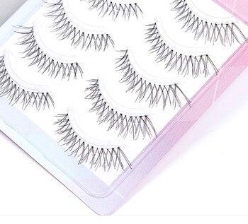YOKPN moda japonesa señaló 3D pestañas falsas Cruz desordenada suave transparente madre pestañas falsas grandes ojos 5 pares ojo Lashe