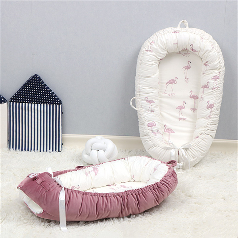 Washable Cotton Baby Nest Bed Travel Cribs For Boys Girls Newborns Cot Baby Bed Bassinet Bumper
