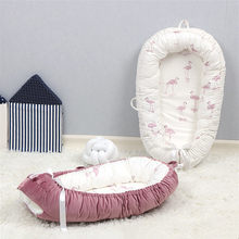 Washable Cotton Baby Nest Bed Travel Cribs for Boys Girls Newborns Cot Baby Bed Bassinet Bumper(China)