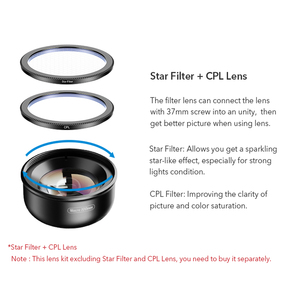 Image 3 - APEXEL HD Camera Phone Lens Kit 110 degree 4K Wide angle lens With CPL Star filter for iPhonex Samsung s9 all smartphone