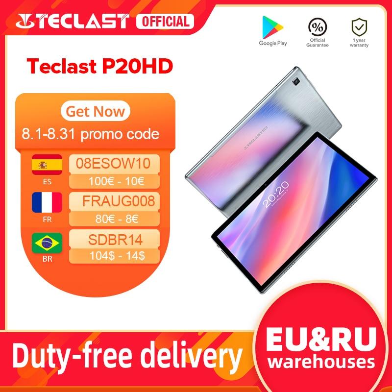 "Teclast P20HD 10.1"" Android 10 Tablet 1920x1200 SC9863A Octa Core 4GB RAM 64GB ROM 4G Network AI Speed up Tablets PC Dual Wifi Tablets  - AliExpress"