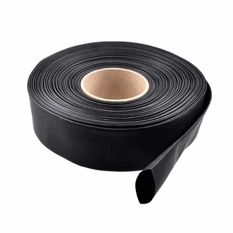 XNEMON 1m PVC Heat Shrink Tubing Electronic Insulation 30/40/46/50/60/70/86mm Materials Black Wide For Lipo Battery