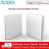 Xiaomi Aqara D1 Wand Schalter Smart Zigbee Wireless Key Licht Fernbedienung Null Linie Feuer Draht Schalter Mit/KEINE neutral Mi Hause