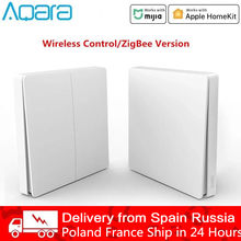 Xiaomi Aqara D1 Wall Switch Smart Zigbee Wireless Key Light Remote Control Zero Line Fire Wire Switch Without Neutral Mi Home