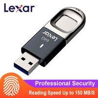 Lexar Fingerprint Encrypted Flash Drive 32GB 64GB 128GB 256GB F35 Business Meeting Pendrive gift USB 3.0 Memory Stick DJ U Disk USB Flash Drives    -