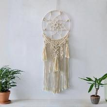Macrame Wall Hanging, Bohemian Hand Woven Tapestry Household Living Room Decoration Circle Fringe Tapestry  Home decor gift