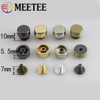 10/30pcs Metal Rivet Screw For Bags Hardware Handbag Decorative Studs Button Nail Rivet Metal Buckles Snap Hooks
