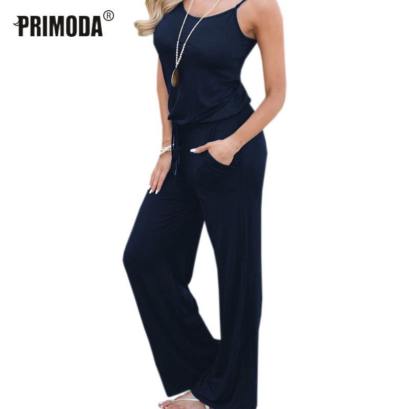 JustWin Long Overalls V-Neck Sling Lace Solid Jumpsuits Women Strapless Bandage Party Jumpsuits