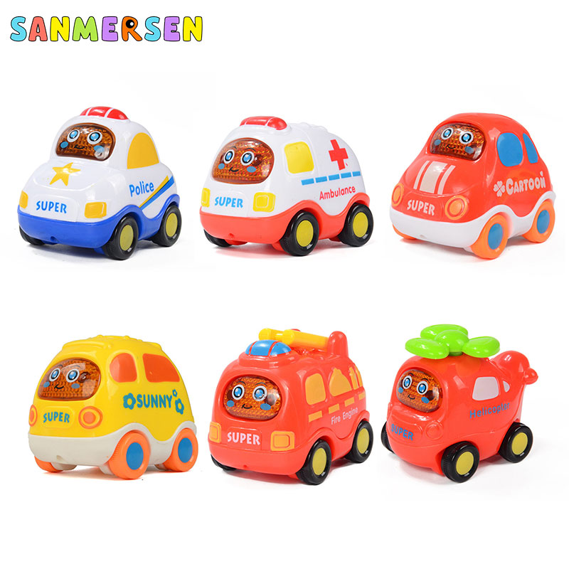 Pull Back Car Toy Cars 3 Action Magic Tracks Toys For Boy Cars Fire Truck Ambulance Bus Vehicle Model Kids Toys 1:64 Hot Wheels