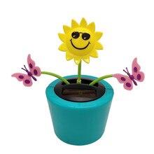 Солнечная энергия танцы качающиеся цветы танцор игрушки автомобильное подвесное украшение для подоконника подарки на день рождения#0