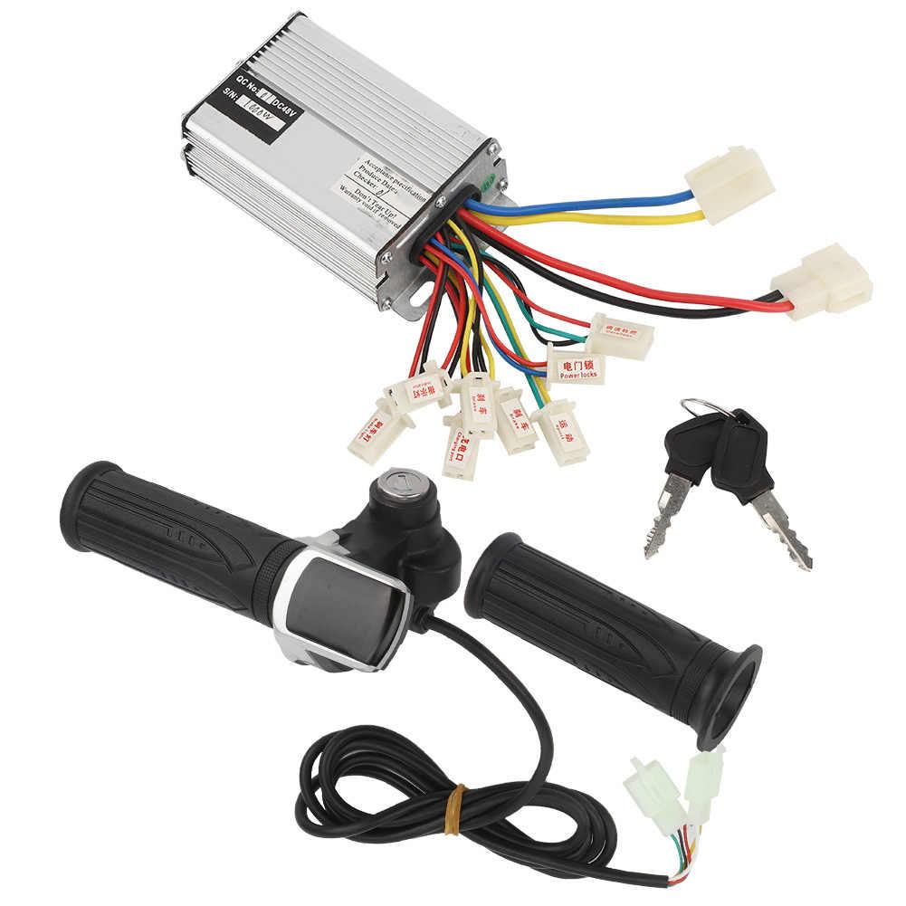 48V 1000W ไฟฟ้าจักรยาน Controller คันเร่ง Grip ชุดล็อค E-BIKE ไฟฟ้าสกู๊ตเตอร์สามล้อไฟฟ้ามอเตอร์คันเร่ง Grip